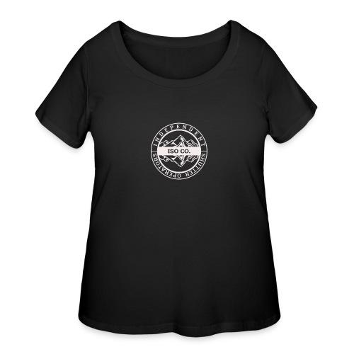 ISO Co. White Classic Emblem - Women's Curvy T-Shirt