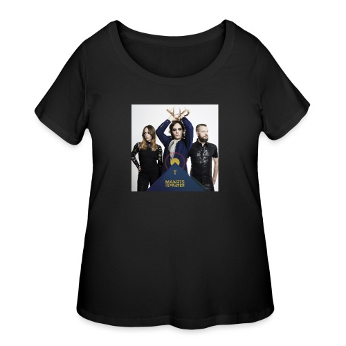 Mantis and the Prayer - Pyramid Design - Women's Curvy T-Shirt