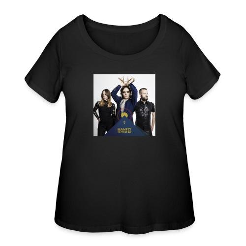 Mantis and the Prayer- Pyramid Design for kids - Women's Curvy T-Shirt