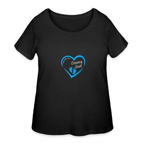 Baby coming soon - Women's Curvy T-Shirt