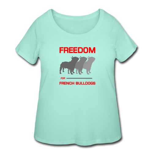French Bulldogs - Women's Curvy T-Shirt