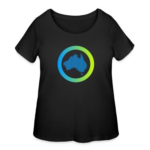 Gradient Symbol Only - Women's Curvy T-Shirt