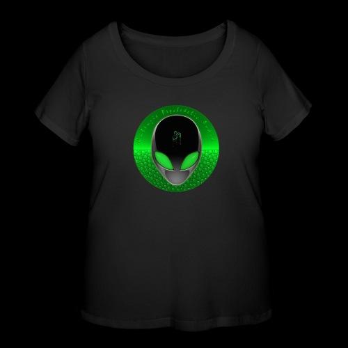 Psychedelic Alien Dolphin Green Cetacean Inspired - Women's Curvy T-Shirt