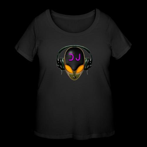 Alien DJ - Orange - Hard Shell Bug - Women's Curvy T-Shirt