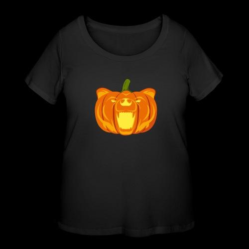 Pumpkin Bear - Women's Curvy T-Shirt