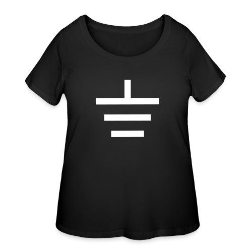 GROUNDED - BASEBALL CAP - Women's Curvy T-Shirt