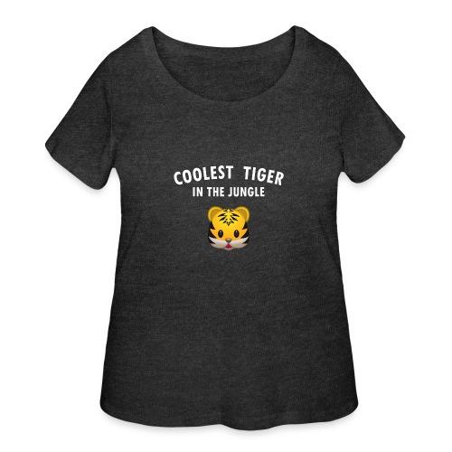 Coolest Tiger Hoodie - Women's Curvy T-Shirt