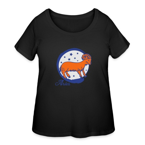 Aries - Women's Curvy T-Shirt