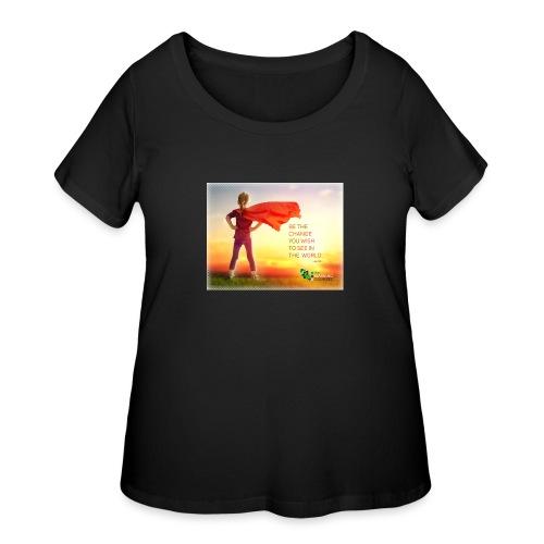 Education Superhero - Women's Curvy T-Shirt