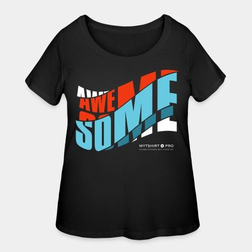 awesome t shirt design diagonal - Women's Curvy T-Shirt