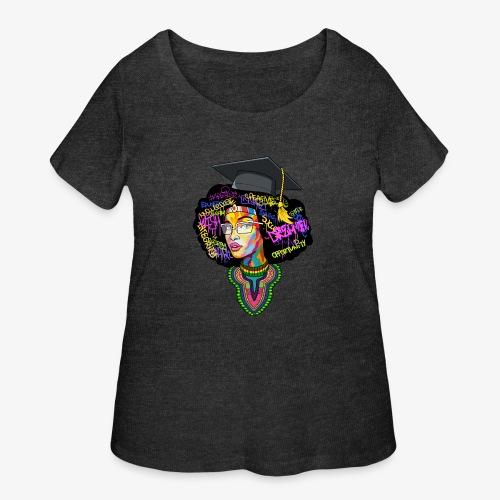 Melanin Women Afro Education - Women's Curvy T-Shirt