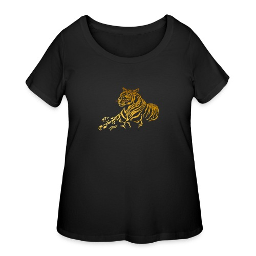 Gold Tiger - Women's Curvy T-Shirt