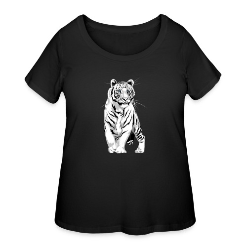 Stately White Tiger - Women's Curvy T-Shirt