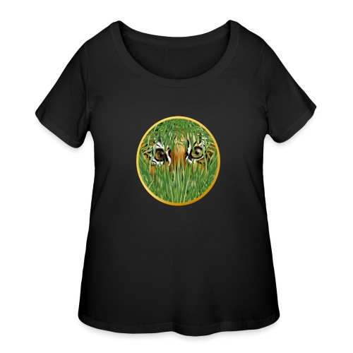 Tiger In The Grass - Women's Curvy T-Shirt