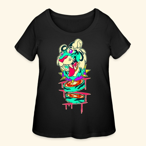 - Decaptiger - - Women's Curvy T-Shirt