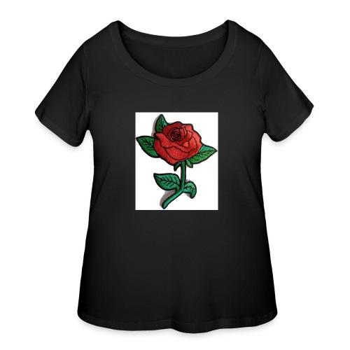t-shirt roses clothing🌷 - Women's Curvy T-Shirt