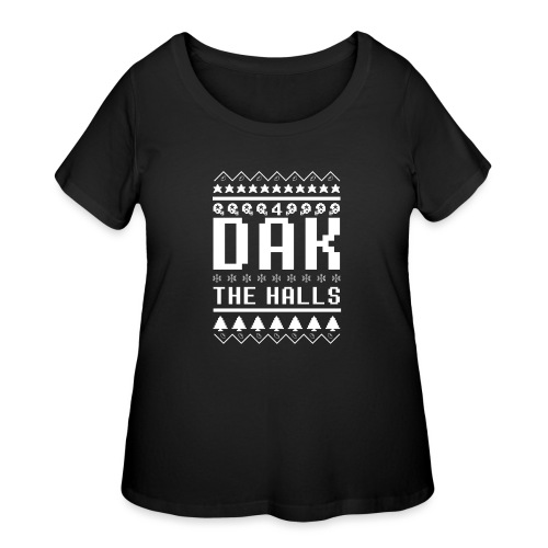 Dak The Halls Ugly Christmas Sweater - Women's Curvy T-Shirt
