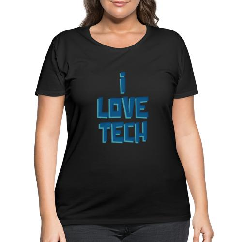 I LOVE TECH - Women's Curvy T-Shirt