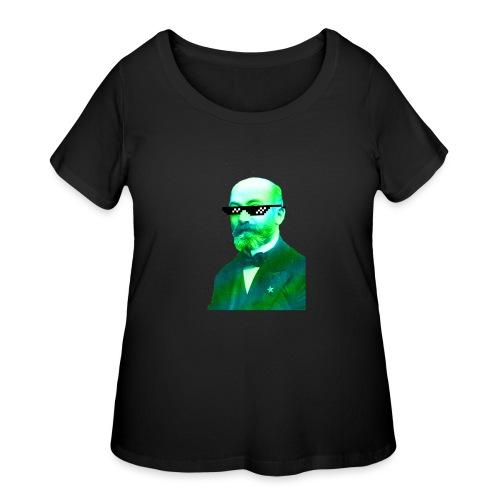 Green and Blue Zamenhof - Women's Curvy T-Shirt
