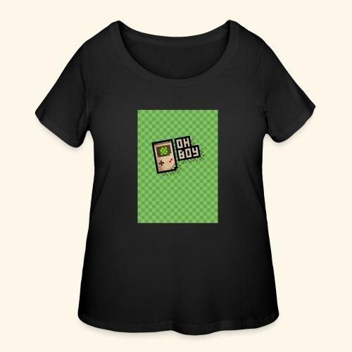 oh boy handy - Women's Curvy T-Shirt