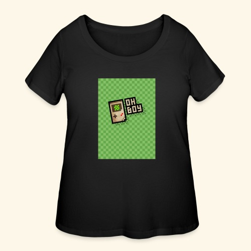 oh boy handy - Women's Curvy T-Shirt