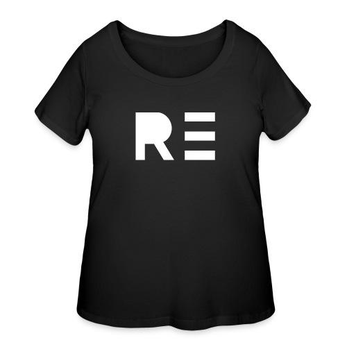 RE Logo - Women's Curvy T-Shirt