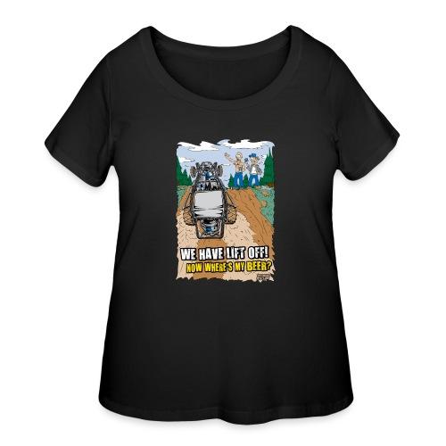 Beer Buggy Lift Off - Women's Curvy T-Shirt