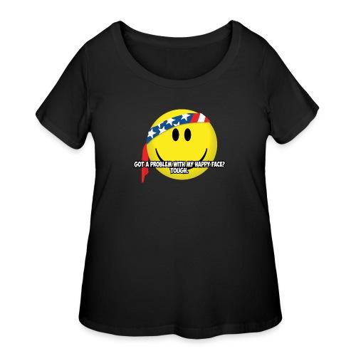 Happy Face USA - Women's Curvy T-Shirt