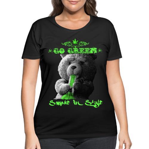 Go Green 2 - Women's Curvy T-Shirt