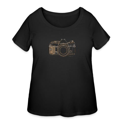 Camera Sketches - Canon AE1 Program - Women's Curvy T-Shirt