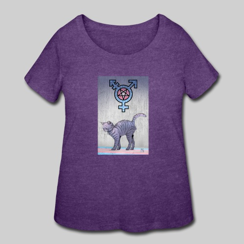 Trans Satanic Cat - Women's Curvy T-Shirt