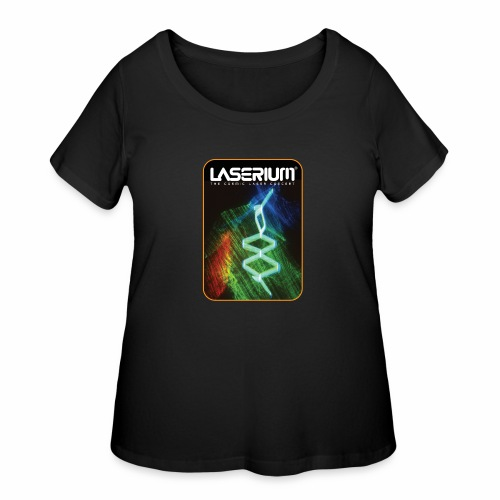 LaseriumDesign001 - Women's Curvy T-Shirt
