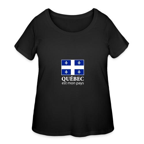 Québec est mon pays - Women's Curvy T-Shirt