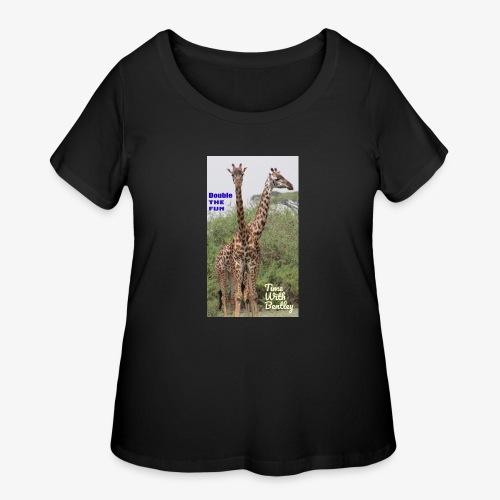 Two Headed Giraffe - Women's Curvy T-Shirt