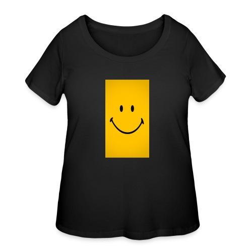Smiley face - Women's Curvy T-Shirt