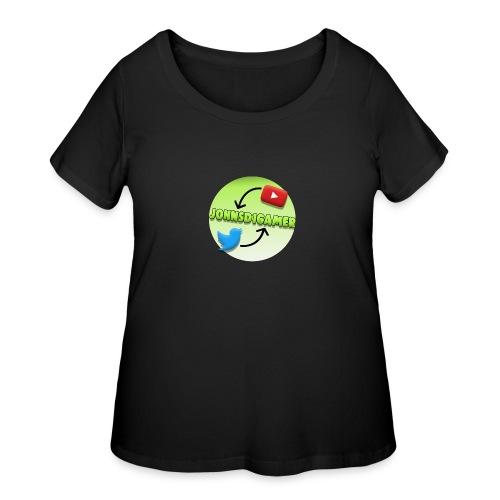 JohnSD1Gamer - Women's Curvy T-Shirt