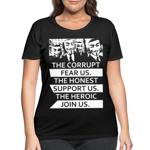 Anonymous 5 - Women's Curvy T-Shirt