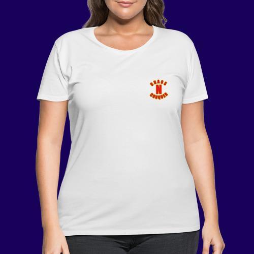 ChaosNConquer Minimalist Logo Print - Women's Curvy T-Shirt