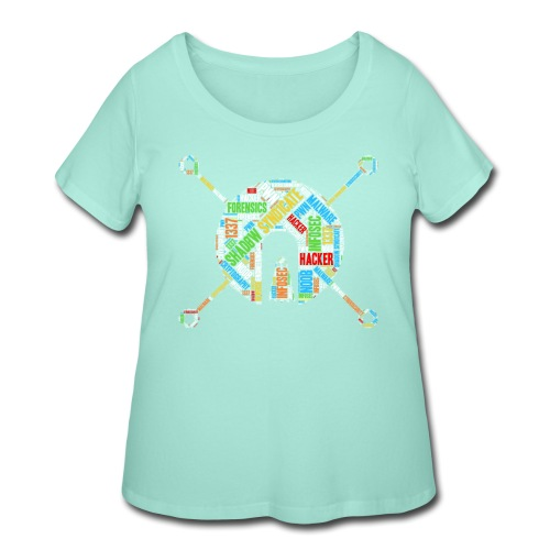 Shad0w Synd1cate Logo Word Cloud (Color) - Women's Curvy T-Shirt