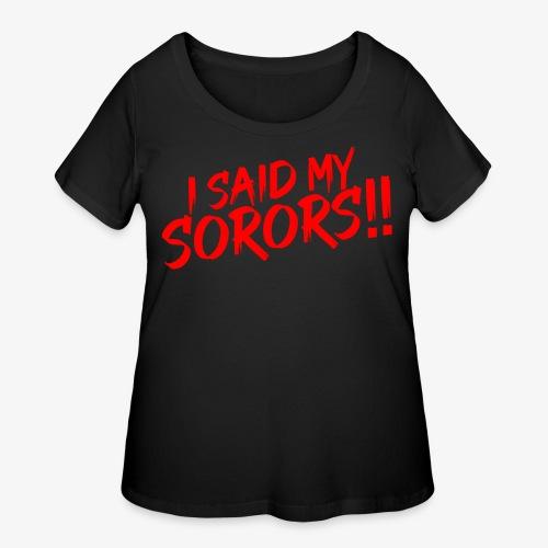 My Sorors Red - Women's Curvy T-Shirt