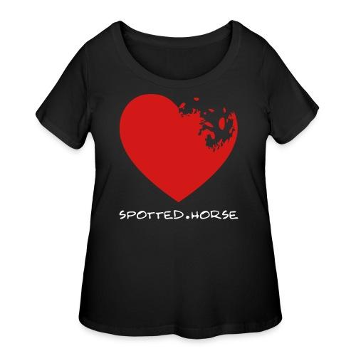 Appaloosa Heart - Women's Curvy T-Shirt