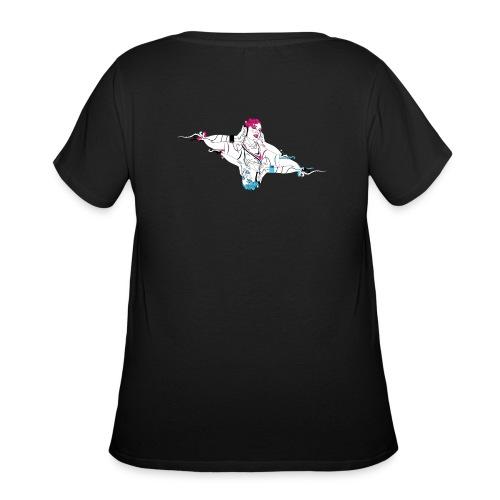 Twin Headphones - Women's Curvy T-Shirt