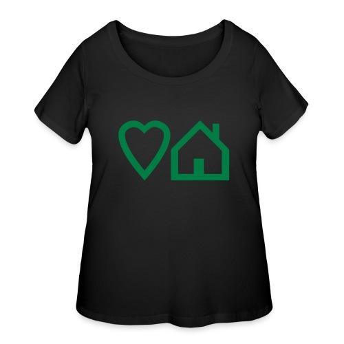 ts-3-love-house-music - Women's Curvy T-Shirt