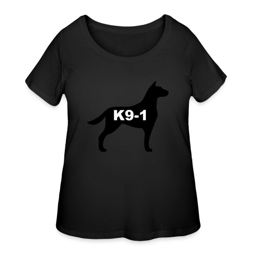 k9-1 Logo Large - Women's Curvy T-Shirt