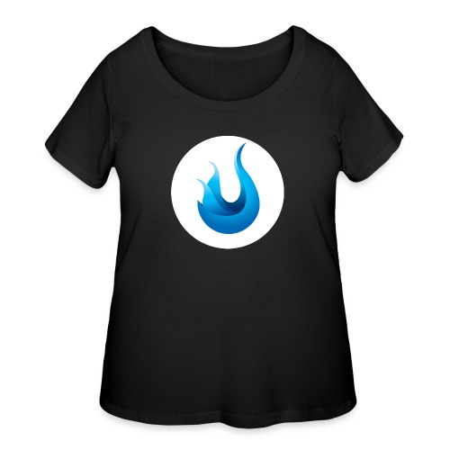 flame front png - Women's Curvy T-Shirt