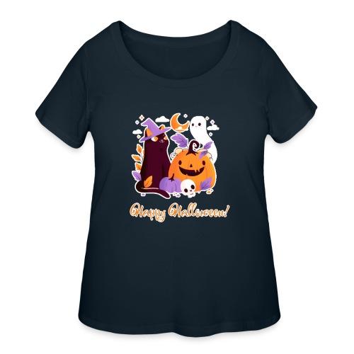 Halloween happy - Women's Curvy T-Shirt