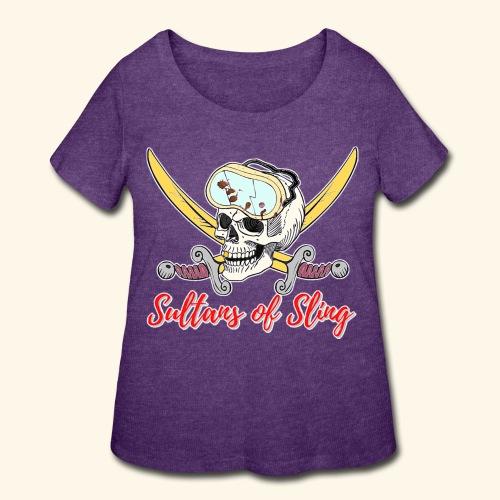 Sultans Skully Logo - Women's Curvy T-Shirt