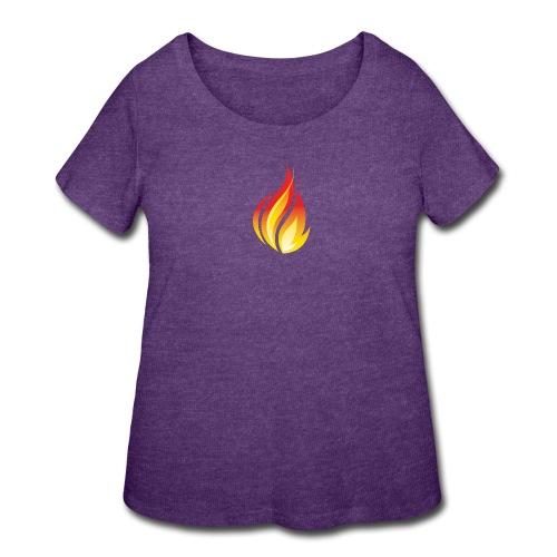HL7 FHIR Flame Logo - Women's Curvy T-Shirt
