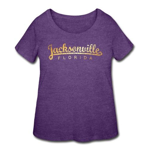 Jacksonville, Florida Classic (Golden-Yellow) - Women's Curvy T-Shirt