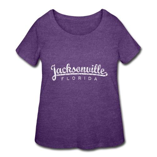 Jacksonville, Florida (Vintage White) - Women's Curvy T-Shirt